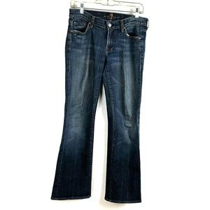 7 For All Mankind size 28 Bootcut Blue Jeans